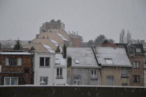 Neve sui tetti di Bruxelles
